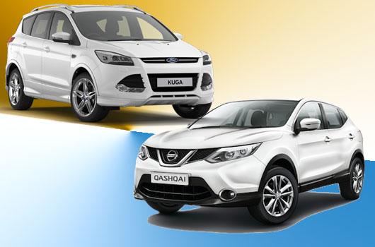 Confronto tra Ford Kuga e Nissan Qashqai