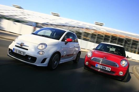 Fiat 500 confronto con Mini
